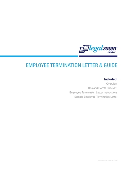 employee termination letter and guide example
