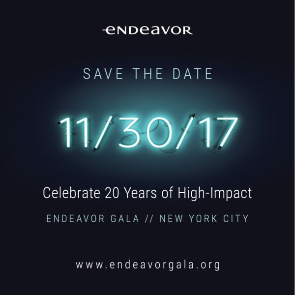 endeavor gala save the date invitation