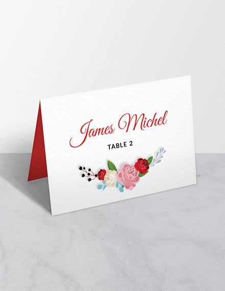 escort wedding place card