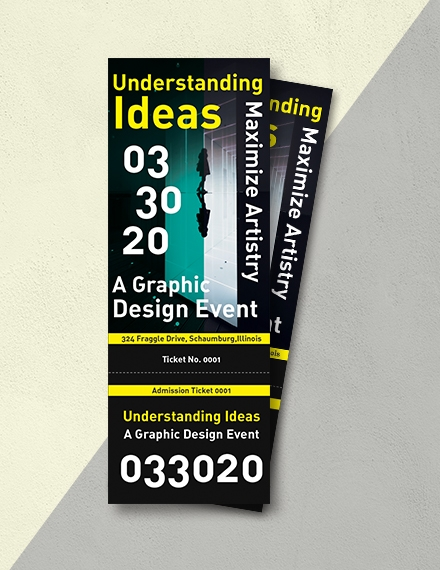 event admission ticket