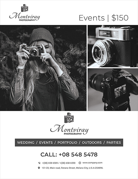 event photography flyer