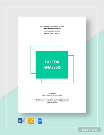 factor analysis template