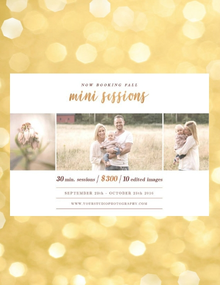 fall family mini session photography flyer