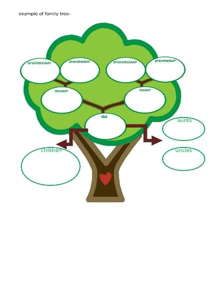 family tree worksheet sample