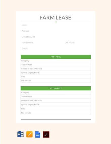 farm lease contract