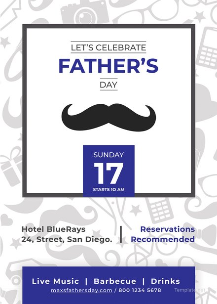 fathers day invitation template