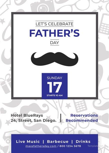 Fathers Day Invitation Template