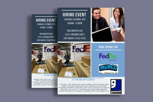 fedex business event hiring flyer