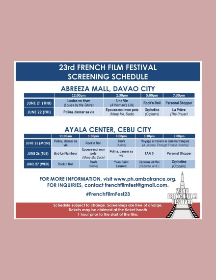 film festival screening schedule
