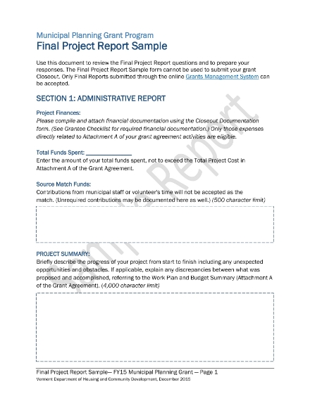 final project report sample