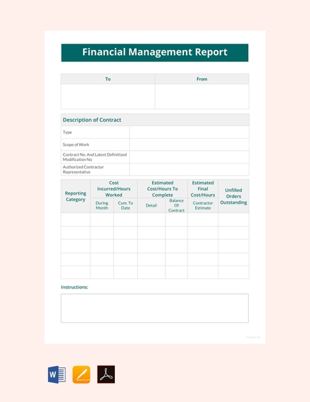 financial management report template