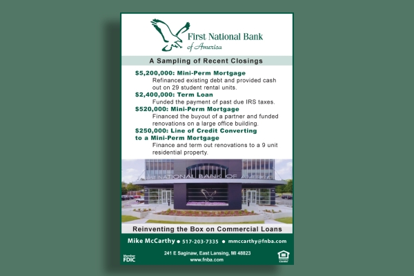 first national bank business corporate flyer