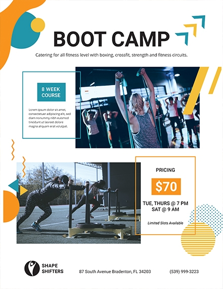 fitness boot camp flyer