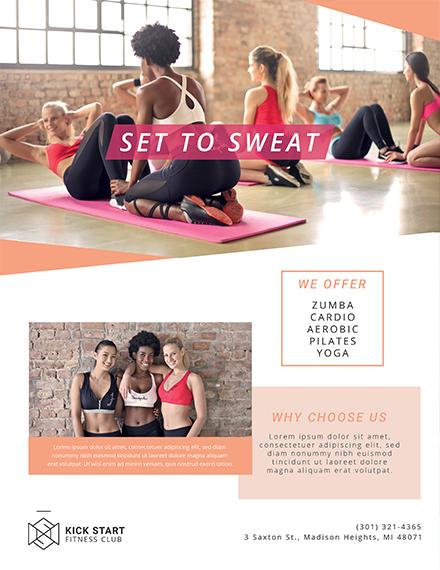 fitness health club flyer