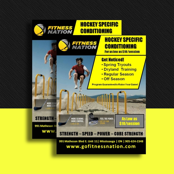 Fitness Nation Hockey Conditioning Flyer