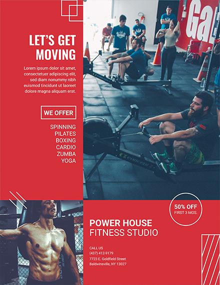 fitness studio flyer
