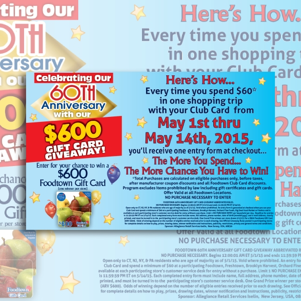 foodtown anniversary invitation