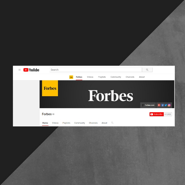 Forbes YouTube Channel Art