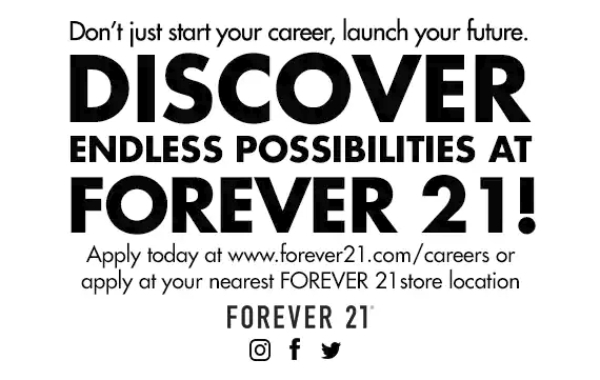 forever 21 marketing flyer 1