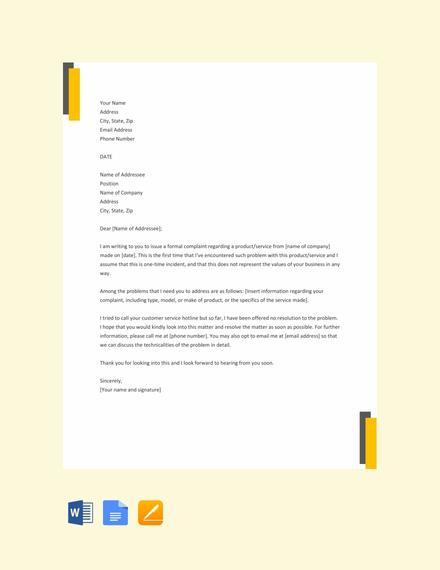 formal complaint letter1