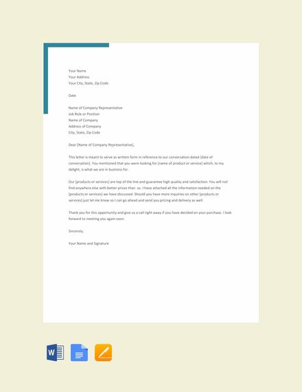 formal letter of interest
