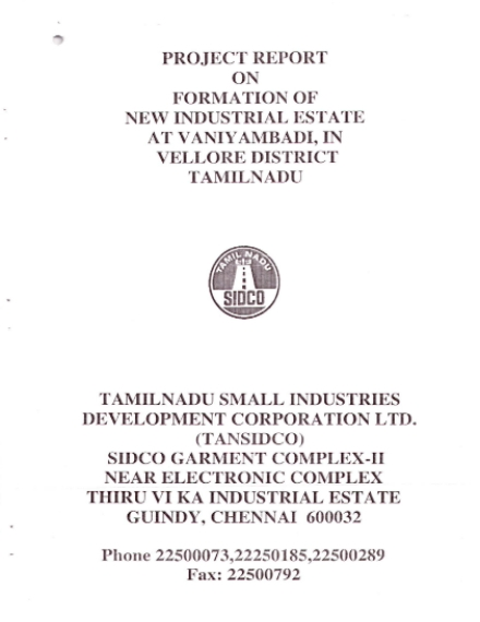 Formation of New Industrial Estate Project Report