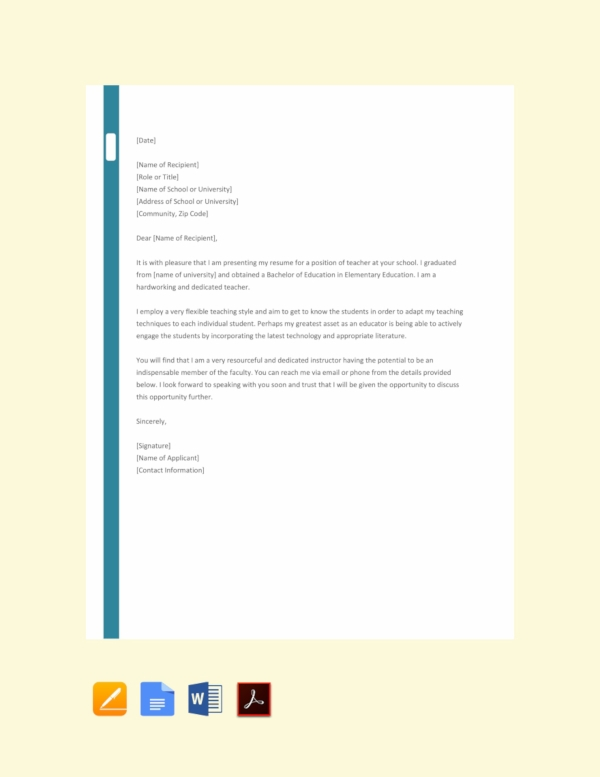 37 Job Application Letter Examples Pdf Examples