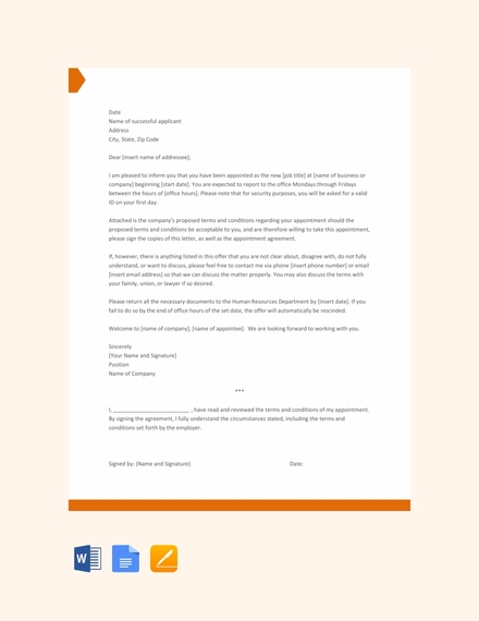 55 Appointment Letter Examples Samples Pdf Doc