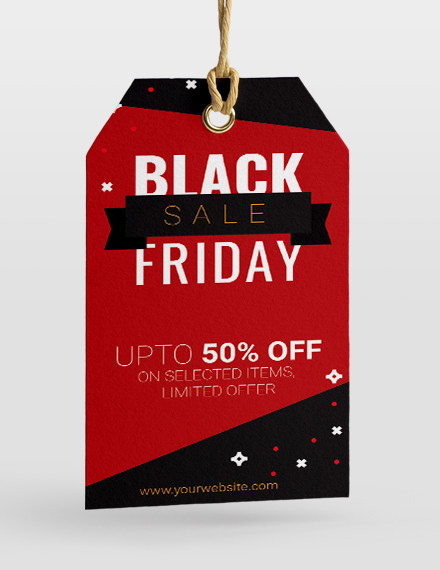 free black friday sale tag template