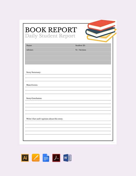 7 book report examples samples doc pdf