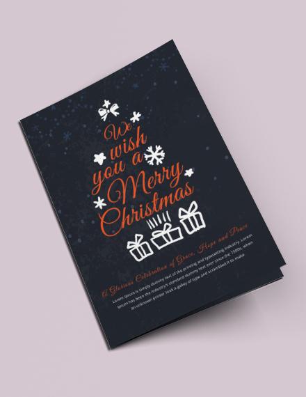 free christmas bi fold brochure template