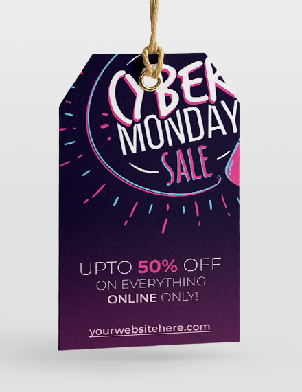 free cyber monday sale tag template
