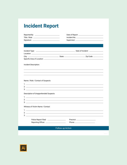 41 Incident Report Examples Samples PDF DOC Pages