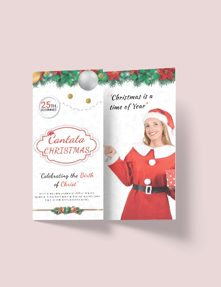free modern christmas tri fold brochure template