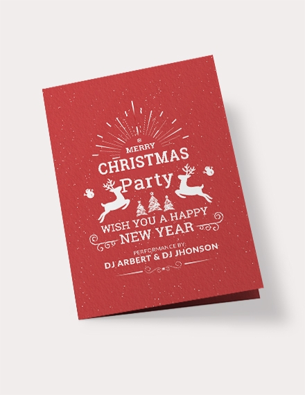 free retro christmas bi fold brochure template