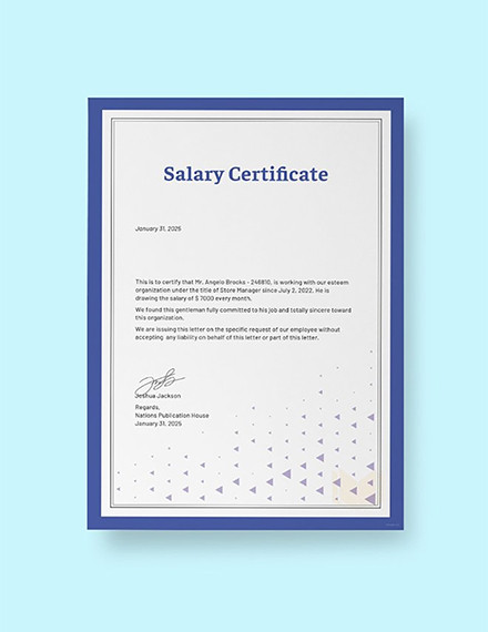 16+ Salary Certificate Examples & Samples - PDF, Word | Examples