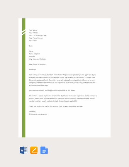 52 Application Letter Examples Samples Pdf Doc Examples