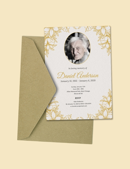funeral ceremony invitation