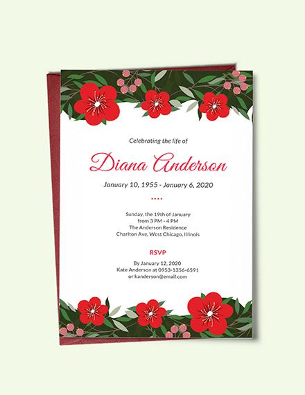 funeral repast invitation template