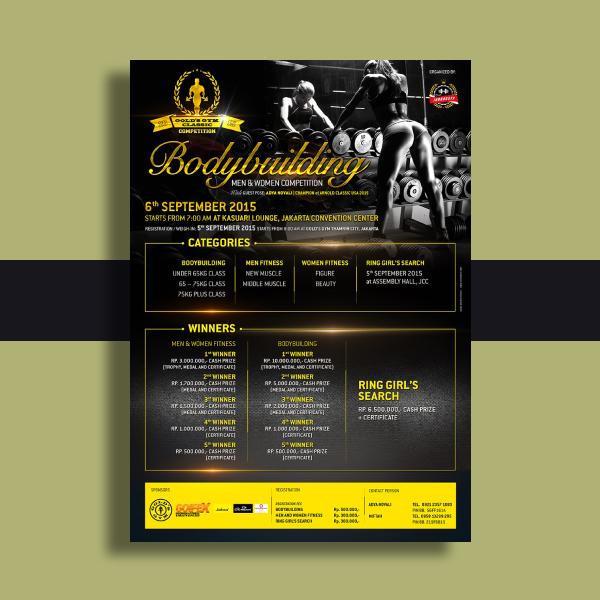 golds gym fitness flyer design