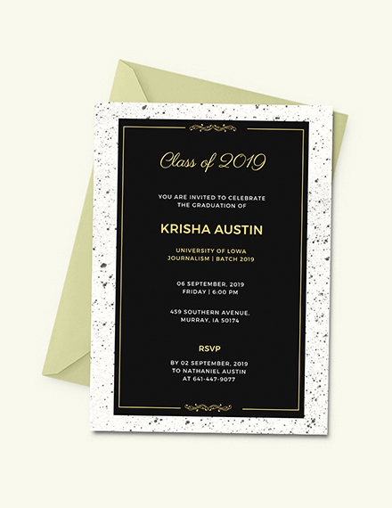 graduation announcement invitation template