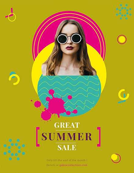 great summer sale flyer