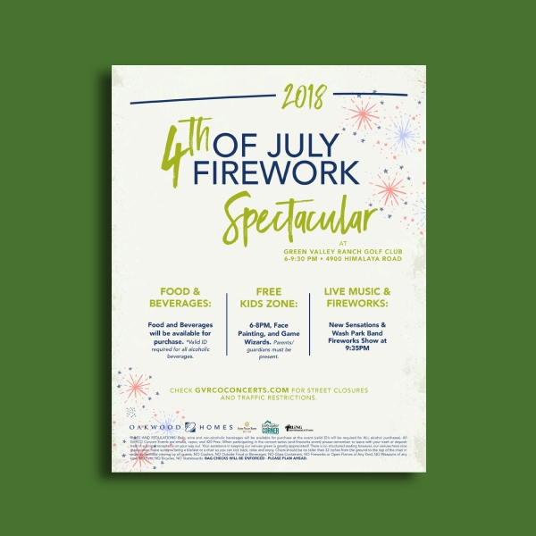 green valley 4th of july party flyer