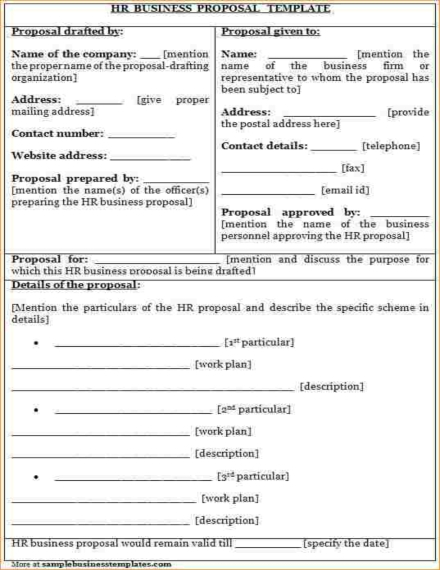 hr business proposal template
