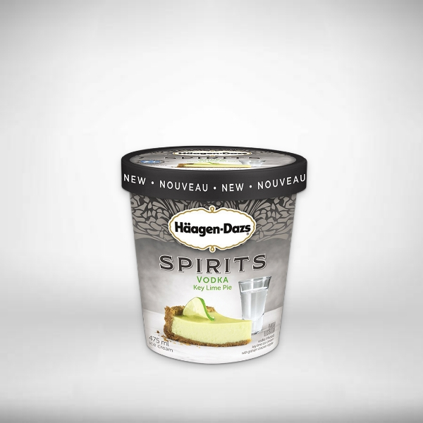 haagen dazs ice cream product label