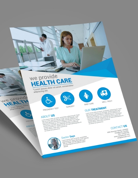 health care provider flyer