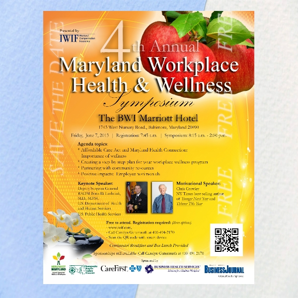 health and wellness flyer from maryland department of health