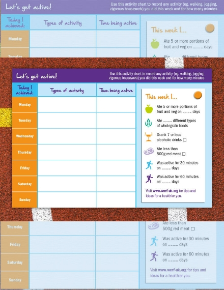 healthy new you weekly planner schedule