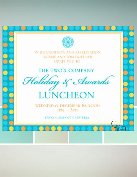 holiday luncheon invitation