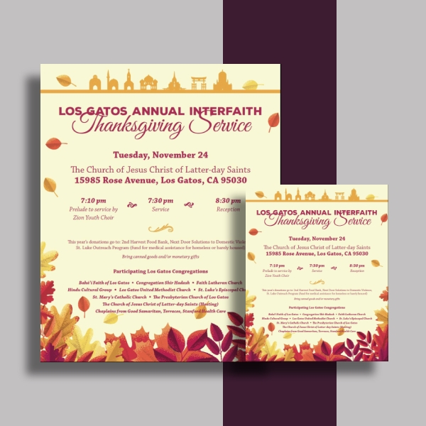 iflg thanksgiving invitation card